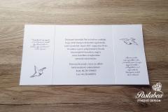 galambos kihajthatós esküvői meghívó belső