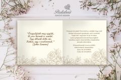 esküvői meghívó gyűrű mintával belső