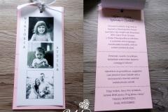 Kétlapos fényképes esküvői meghívó