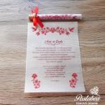 magyaros kémcsöves esküvői meghívó
