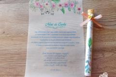 pasztell virágos kémcsöves meghívó