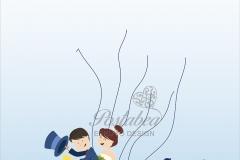 Kék robogós ujjlenyomatfa