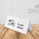 tandem biciklis ültetőkártya