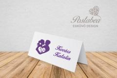 lila elegancia ültetőkártya