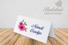 magenta virág ültetőkártya