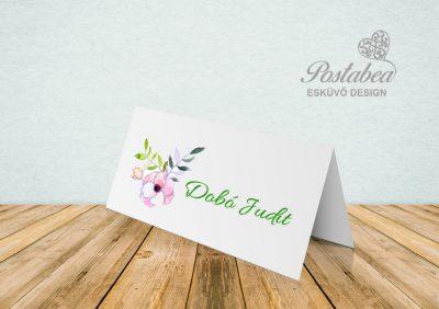 Ültetőkártya virágos