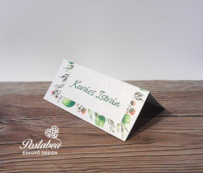 leveles ültetőkártya