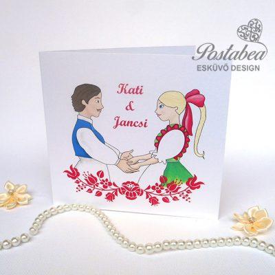 magyaros esküvői meghívó