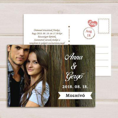 fényképes képeslap esküvői meghívó