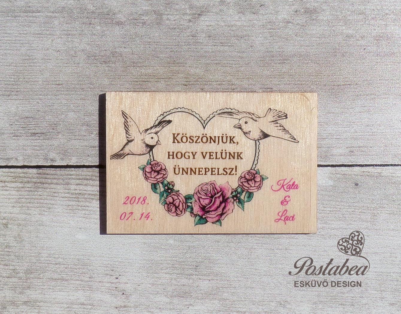 27cb5b58bc Esküvői köszönetajándék hűtőmágnes | Postabea esküvői meghívó