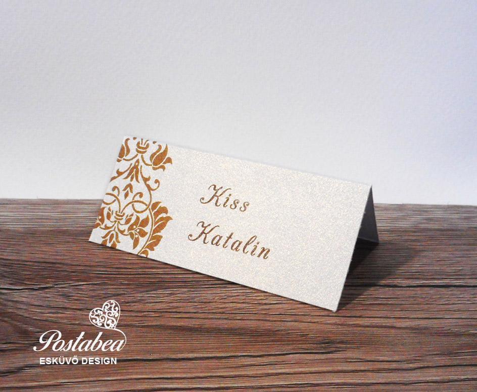 9830de8e08 barokk mintás ültetőkártya | Postabea esküvői meghívó